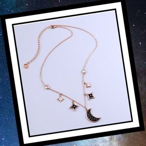 Jewelry - 💫 NWT Rose Gold Moon and Star Necklace